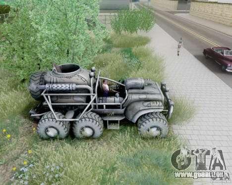 Cheta patte des Borderlands pour GTA San Andreas vue de droite