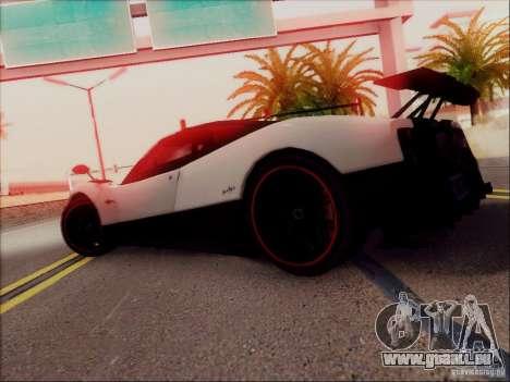 Pagani Zonda Cinque pour GTA San Andreas vue de dessous