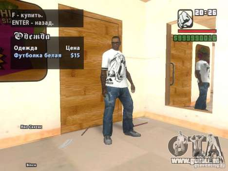 Adidas Crazy Dog T-shirt für GTA San Andreas