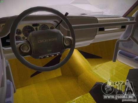 Dodge Ram Prerunner pour GTA San Andreas vue arrière