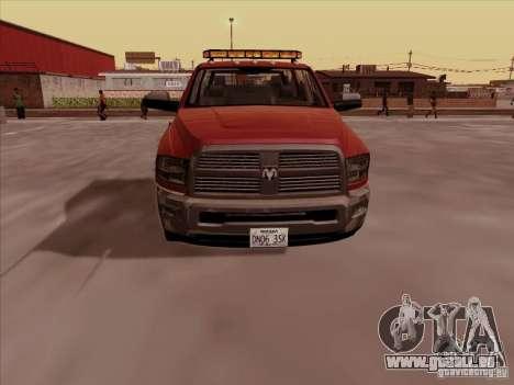 Dodge Ram 3500 TowTruck 2010 pour GTA San Andreas laissé vue