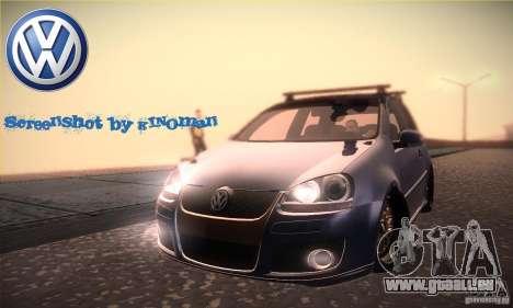 Volkswagen Golf Mk5 GTi pour GTA San Andreas