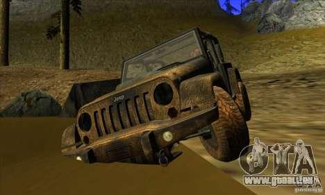 Jeep Wrangler pour GTA San Andreas vue arrière