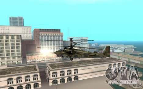 KA-52 Alligator pour GTA San Andreas sur la vue arrière gauche