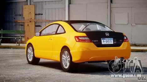 Honda Civic Si Coupe 2006 v1.0 für GTA 4 obere Ansicht