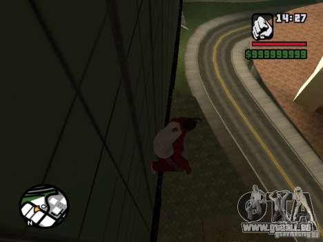 Wallrun-sans fin en cours d'exécution sur le mur pour GTA San Andreas deuxième écran