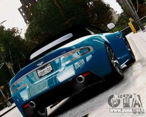 Aston Martin DBS Volante 2010 v1.5 Diamond pour GTA 4 Vue arrière de la gauche