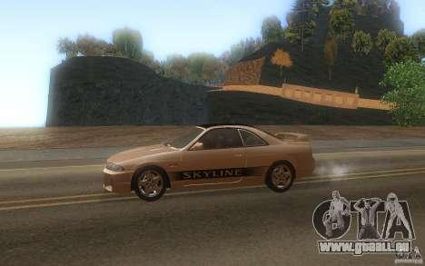 Nissan Skyline R33 GTS25t Stock pour GTA San Andreas laissé vue