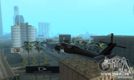 UH-60M Black Hawk pour GTA San Andreas sur la vue arrière gauche