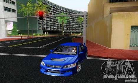 Mitsubishi Lancer Evolution 9 MR Edition pour GTA San Andreas sur la vue arrière gauche