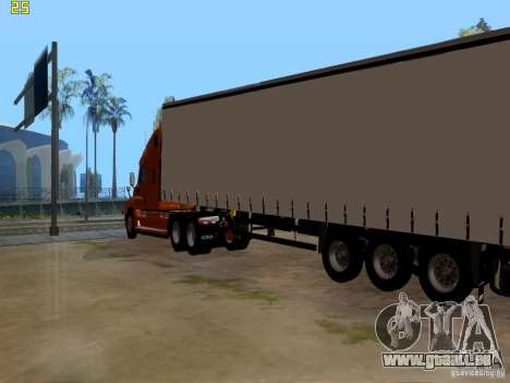 Freightliner Cascadia pour GTA San Andreas sur la vue arrière gauche