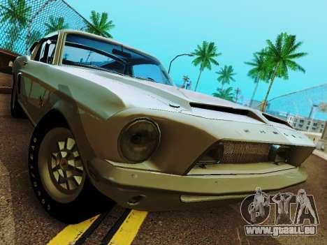 Shelby GT 500 KR für GTA San Andreas Seitenansicht