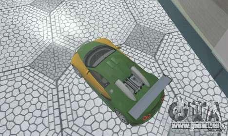 Bugatti Veyron 2005 pour GTA San Andreas sur la vue arrière gauche