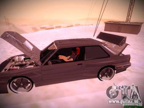 BMW M3 Drift für GTA San Andreas Seitenansicht