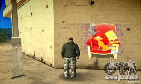 Simpson Graffiti Pack v2 für GTA San Andreas achten Screenshot