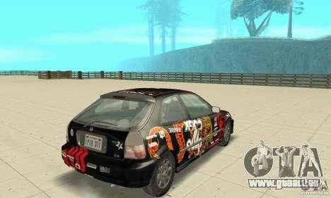 Honda-Superpromotion pour GTA San Andreas laissé vue