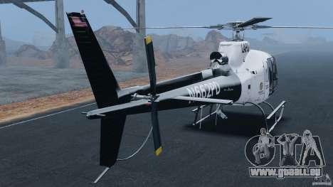 Eurocopter AS350 Ecureuil (Squirrel) für GTA 4 hinten links Ansicht