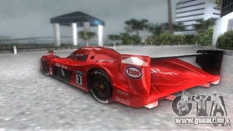 Toyota GT-One TS020 pour GTA Vice City sur la vue arrière gauche