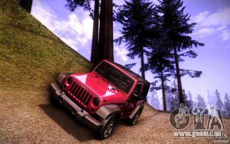 Jeep Wrangler Rubicon 2012 für GTA San Andreas Unteransicht