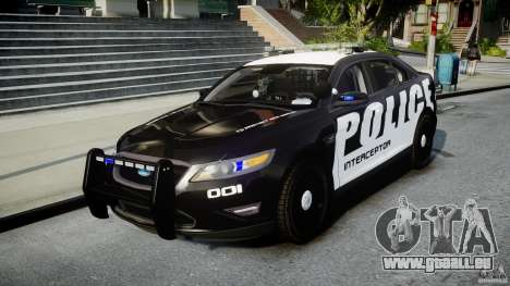 Ford Taurus Police Interceptor 2011 [ELS] pour GTA 4