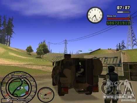 Australian Bushmaster pour GTA San Andreas vue de droite
