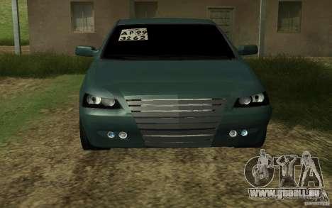 VAZ Lada Priora pour GTA San Andreas sur la vue arrière gauche