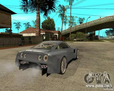 Nissan Skyline GT-R35 proto tuned für GTA San Andreas zurück linke Ansicht