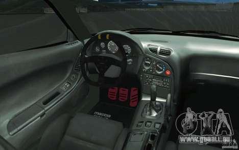 Mazda FD3S - Ebisu Style pour GTA San Andreas vue de dessus