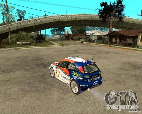 Ford Focus WRC 2002 pour GTA San Andreas laissé vue