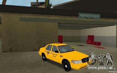 Ford Crown Victoria Taxi für GTA Vice City Rückansicht