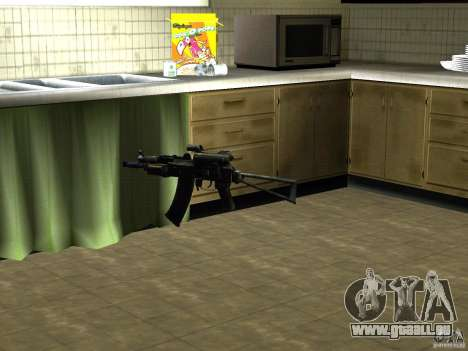 Pak version domestique armes 2 pour GTA San Andreas deuxième écran