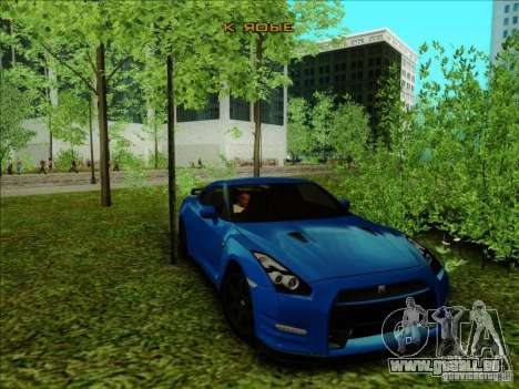 Nissan GTR Egoist 2011 pour GTA San Andreas sur la vue arrière gauche