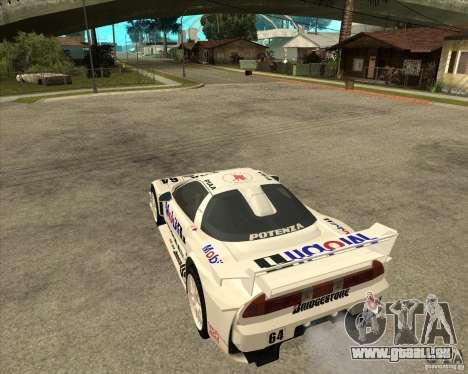 2001 Honda Mobil 1 NSX JGTC pour GTA San Andreas laissé vue