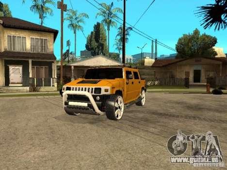 Hummer H2 4x4 diesel pour GTA San Andreas