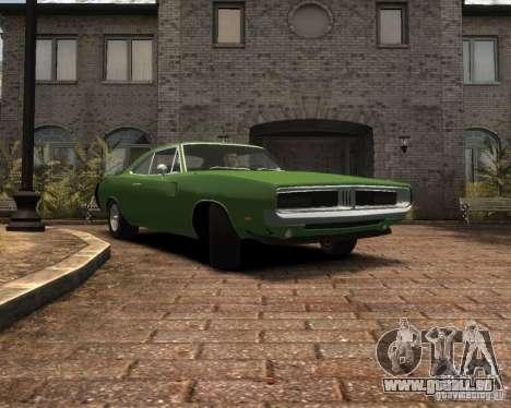 Dodge  Charger 1969 pour GTA 4 est une vue de l'intérieur