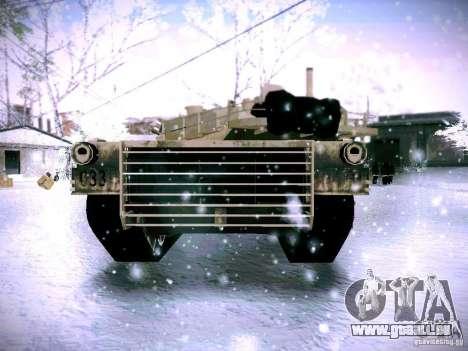 M1A2 Abrams von Battlefield 3 für GTA San Andreas zurück linke Ansicht