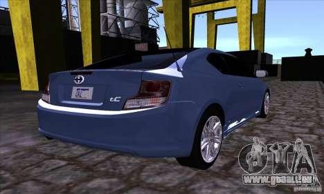 Scion Tc 2012 pour GTA San Andreas vue de côté