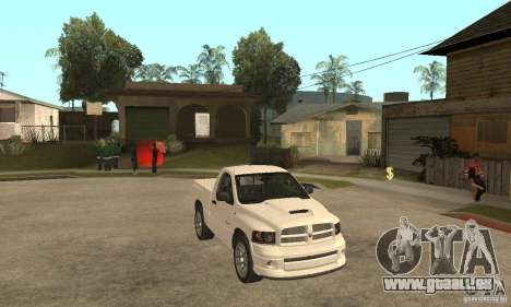 Dodge Ram SRT 10 für GTA San Andreas Rückansicht