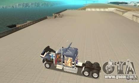 Peterbilt 359 pour GTA San Andreas vue arrière