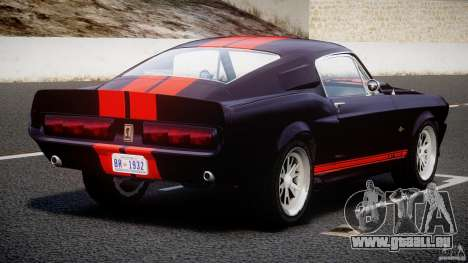 Ford Shelby GT500 1967 für GTA 4 obere Ansicht