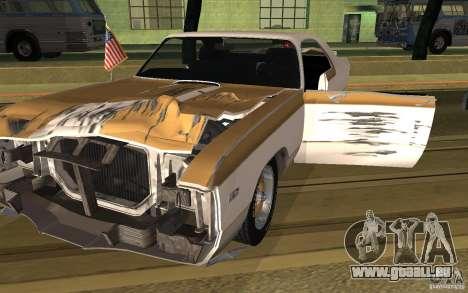 Chrysler 300 Hurst 1970 pour GTA San Andreas sur la vue arrière gauche