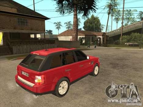 Range Rover Sport 2007 pour GTA San Andreas vue de droite