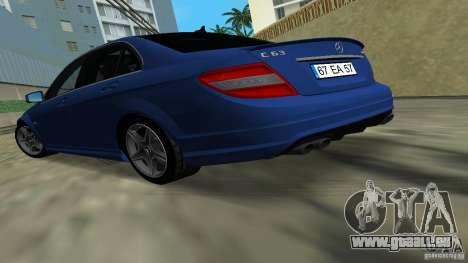 Mercedes-Benz C63 AMG 2010 für GTA Vice City linke Ansicht