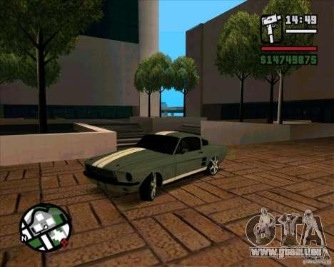 Ford Mustang 67 HotRot pour GTA San Andreas laissé vue