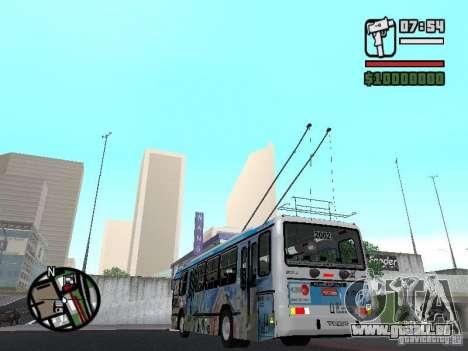 Marcopolo Torino GV Trolebus für GTA San Andreas zurück linke Ansicht