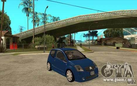 Citroen C2 - Stock pour GTA San Andreas vue arrière