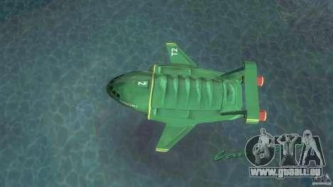 ThunderBird 2 pour GTA Vice City sur la vue arrière gauche