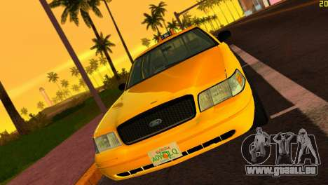 Ford Crown Victoria Taxi 2003 für GTA Vice City linke Ansicht