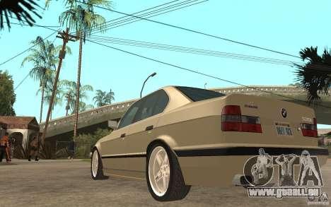 BMW 535i e34 AC Schnitzer für GTA San Andreas zurück linke Ansicht