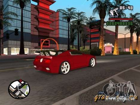 Ford Mustang GT 2005 Concept JVT LORD TUNING pour GTA San Andreas vue de côté